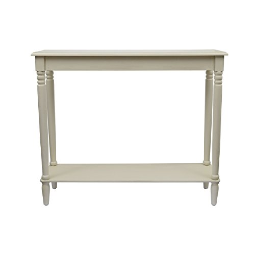 Décor Therapy FR1577 Simplify Large Console Table, Antique White Antique White Sofa Table