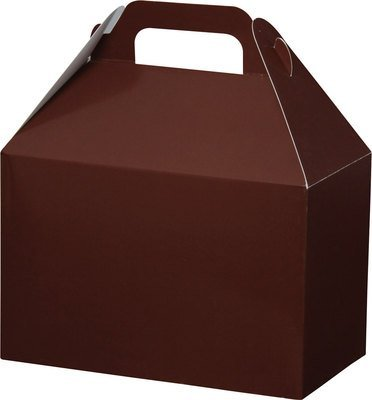 (6) Large Gable Boxes, Set of 6- Chocolate (Brown)- 9x6x6 inches