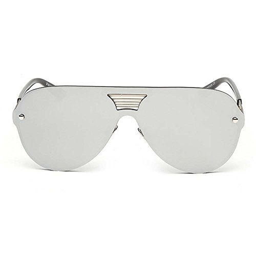 LOMOL Fashion Trendy Metal Frame Reflective Lens UV Protection Personality - Macular For Degeneration Sunglasses Uk