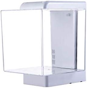 デスクトップ水槽アクリル水槽USBエコミニ水槽小さな水族館家の居間の机の装飾的な魚飼育用の水槽