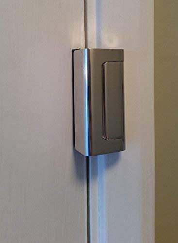 Son 12 veces m/ás fuertes que un pestillo convencional 2 cerraduras para puerta cromadas de Viper