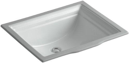 KOHLER K-2339-95 Memoirs Undercounter Bathroom Sink, Ice Grey