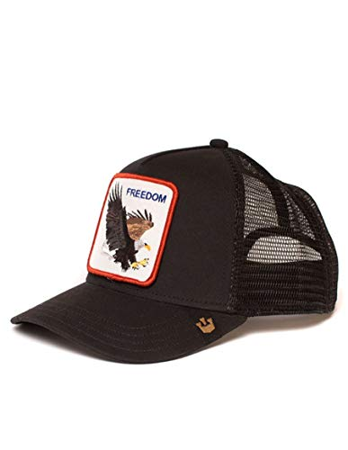 78d1312a Goorin Bros. Men's Animal Farm Snap Back Trucker Hat, Black Eagle, One Size