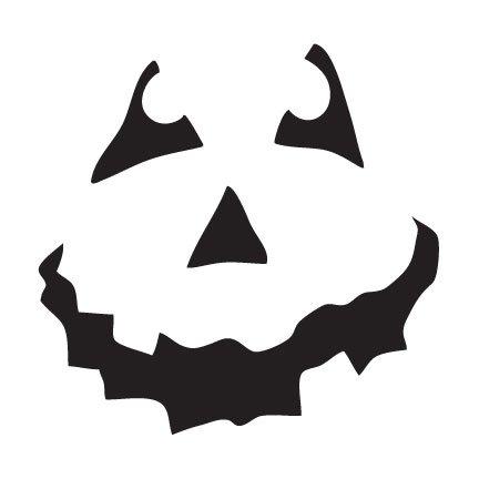 Halloween Shovel- Pumpkin Face Art Stencil- 6