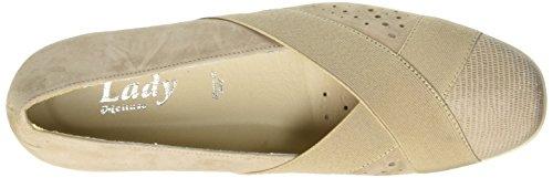 MELLUSO R30507 - Zapatos de vestir de Piel para mujer beige Size: Beige (Corda)
