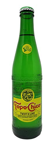 Topo Chico -Twist of Lime - Carbonated Natural Mineral Water with Natural Lime Flavor - 12 fl oz (355mL) (12 Glass Bottles)