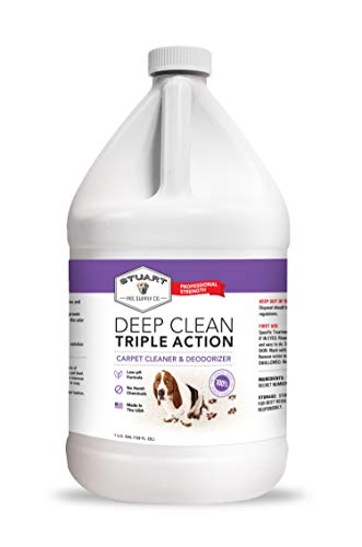 Stuart Pet Supply Co. Professional Strength Deep Clean (Gal.) 3X Carpet Cleaner Solution & Deodorizer | Concentrated Encapsulating Carpet Shampoo | Pet Stain,Odor & Dirty Carpet Cleaning Formula