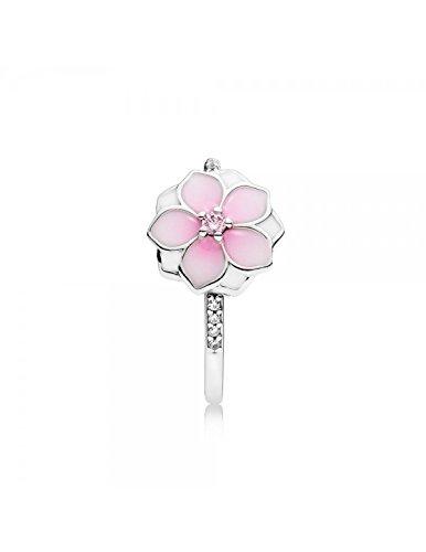 PANDORA - Bague Fleur de Magnolia argent 925/1000 PANDORA 191026PCZ - 50