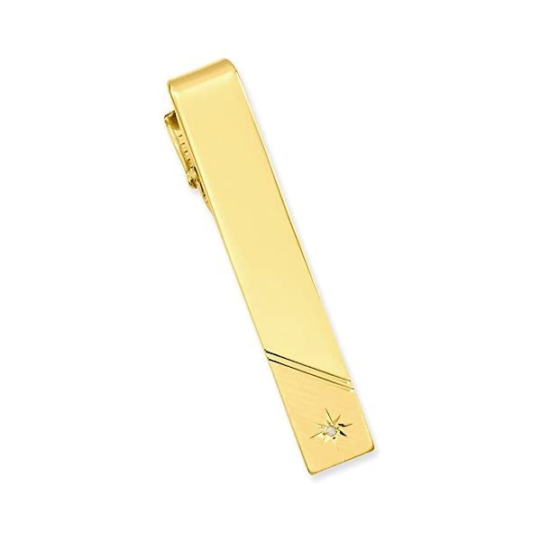 Gold-plated-01-Ct-Diamond-Polished-Florentined-Tie-Bar