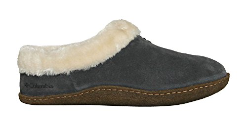 Columbia Sportswear womens Duchess Hill Suede Slippers DARK FOG, DARK GREY (10)
