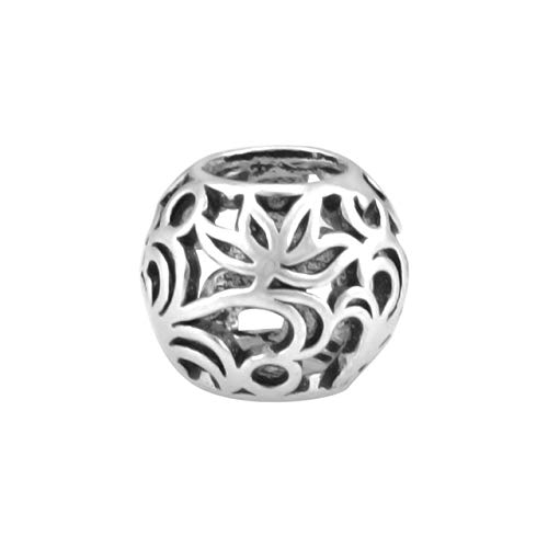 Silver New King Sterling - Pukido King's Faith 2018 New 100% Real 925 Sterling Silver Lotus Bead Fit Original Pandora Beads Charm Bracelets Making SSB135 - (Color: Silver)