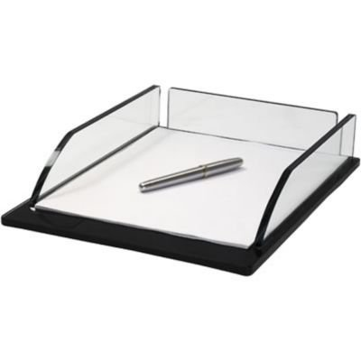 Storex Executive Letter Tray, Glass (Case of 4) (Executive Letter Tray)