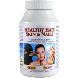 Healthy hair and nails supplement