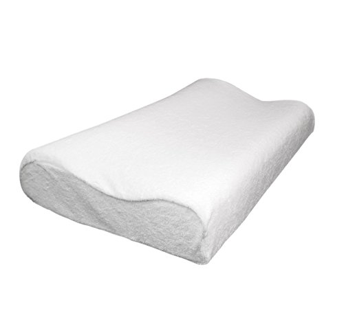 Invero® Orthopaedic Memory Foam Pillow with Soft Terry Cover - Moulds Head and Neck Shape for Maximum Comfort and Support
