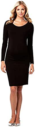 Long Sleeve Cinched Dress,Black,Medium
