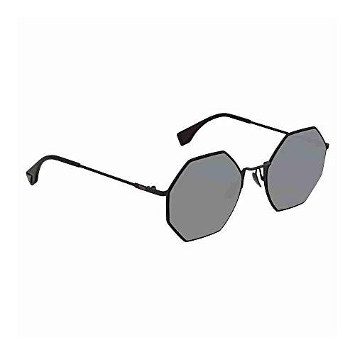 Fendi Women's Geometric Sunglasses, Black/Black Mirror, One Size from Fendi