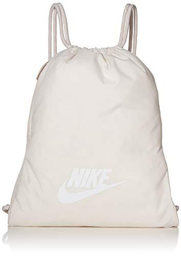 NIKE Heritage Gym Sack - 2.0, Phantom/Desert Sand/White, Misc