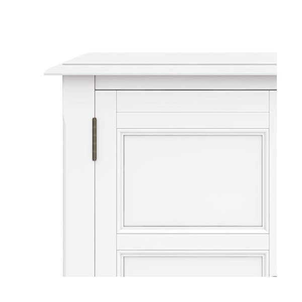 SIMPLIHOME Burlington SOLID WOOD 30 inch Wide Traditional Low Storage Cabinet in Farmhouse Grey, with 2 Doors, 2…