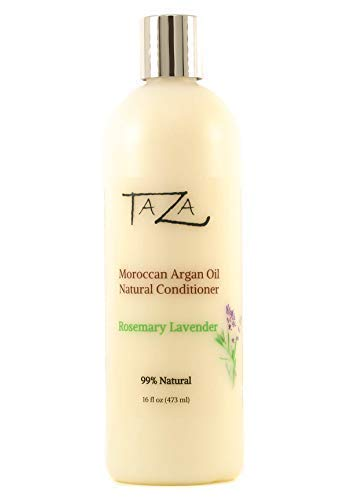 Premium Taza Natural Moroccan Argan Oil Rosemary Lavender Conditioner, 16 fl oz (473 ml) ♦ For Healthy, Smooth, Silky Hair ♦ Contains: Moroccan Argan Oil, Broccoli Seed Oil, Pro Vitamin B5, Hydrolyzed