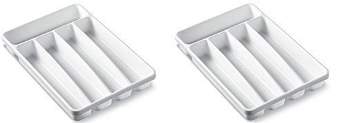 Madesmart Small Cutlery Tray - White (2 Trays)