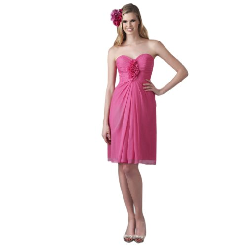 Dearta Women's Sheath/Column Sweetheart Knee-Length Dress US 18 Peony (Dress Style Bride Peony)