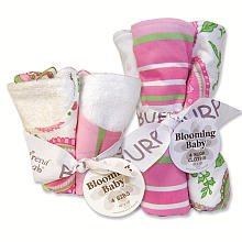 Blooming Bouquet Gift Sets - PAISLEY - Bib & Burp Set by Trend Lab