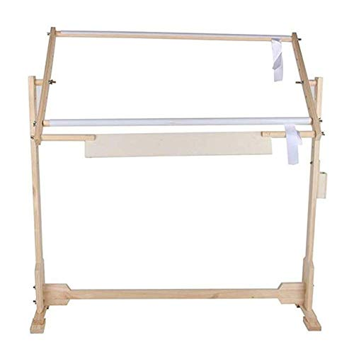 Wooden Frame Embroidery Stand Adjustable Cross Stitch Floor Stand 360° Rotation Embroidery Cross Stitch Needlework Lap Frame Tabletop Tapestry Stand Frame Embroidery Hoop Needlework Craft - Frame Lap Needlework