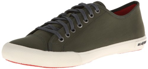 SeaVees Men's Army Issue Low Standard Casual Sneaker,Military Olive,9.5 D US