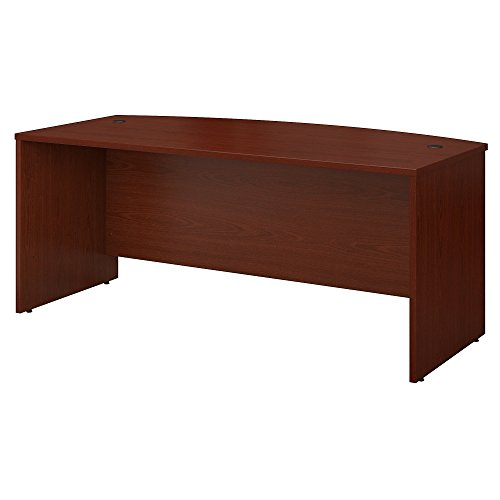 Bush Business Furniture Series C 72W x 36D Bow Front Desk in Mahogany -