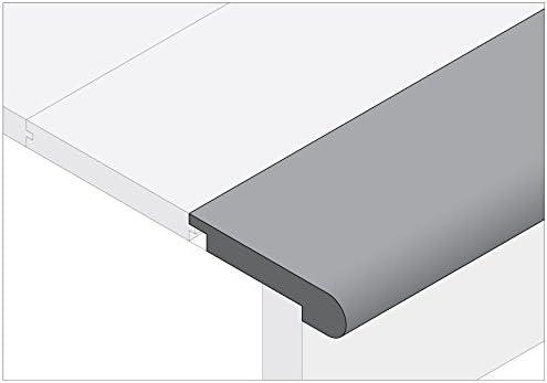 Moldings Online 2004678023 78インチ x 3.125インチ x 0.265インチ 未仕上げホワイトオーク階段ノース