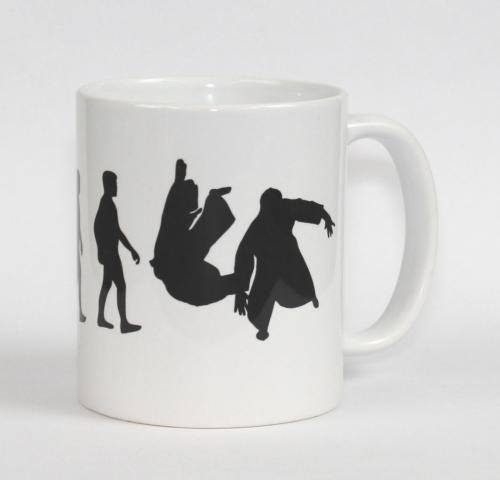 hochwertige Premium Keramik Tasse Evolution Aikido