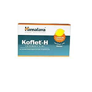 Himalaya Herbals Koflet H, Lemon Flavor, Soothing Relief From Sore Throat Pain, Contains Real Honey, Herbal Lozenge