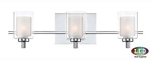 Quoizel KLT8603CLED Kolt Modern Vanity Bath Lighting, 3-Light, LED 13.5 Watts, Polished Chrome (6