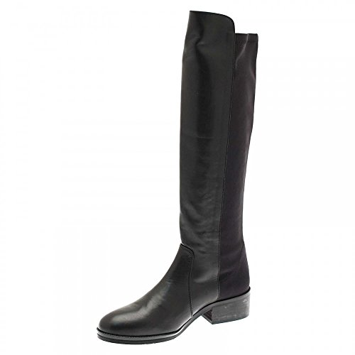 PEDRO MIRALLES Womens Long Boots With Stretch Fit Back Black
