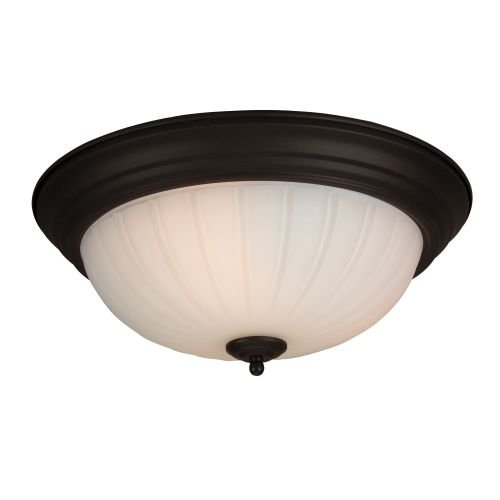 Craftmade Step (Craftmade X115-OB Bowl Flush Mount Light with Frosted Melon Glass Shades, Oiled Bronze Finish)