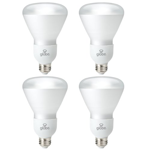 - Globe Electric 01147 15-watt Energysaver R30 Soft White, CFL Medium Base Light Bulb, 65-watt Equivalent, 4-Pack