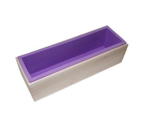flerise Flexible Rectangular Silicona Jabón Molde con caja de ...