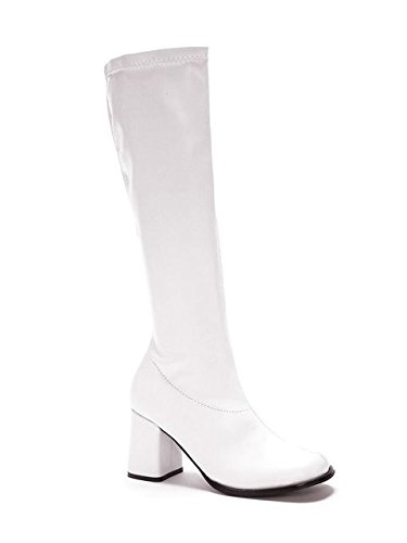 Ellie Shoes Go-Go Boots White (Adult Boots) Women's (Size 7) Women's Costume