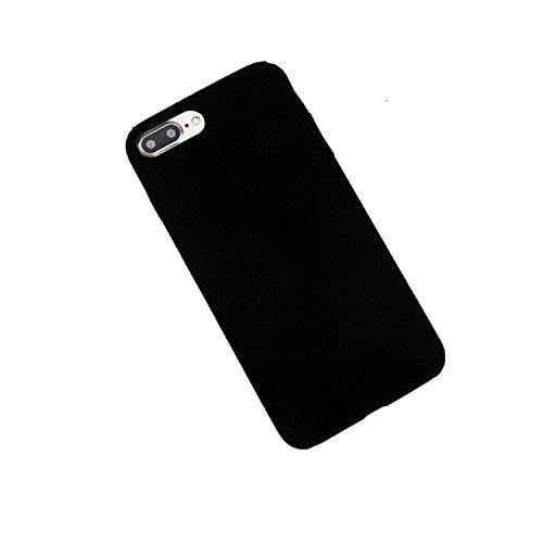 LONGTOU Phone Case for iPhone 8 7 6 6S Plus Solid Color Cloth Plush Flannel Case