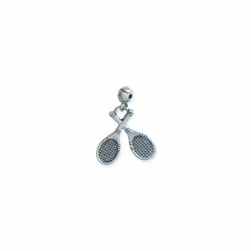 - Shipwreck Beads Pewter Tennis Racquets Charm with Ball, Silver, 22 by 25mm, 3-Piece