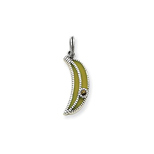 Q Gold Jewelry Pendants & Charms Themed Charms Sterling Silver Enameled Yellow Banana Charm