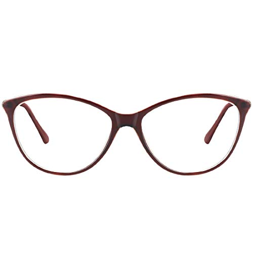 Blue Light Blocking Glasses for Computer Gaming Reading Women Nerd Eyeglasses Frame-Clear Lens Anti Blue Ray Hev Brown (Blue Contacts For Brown Eyes)