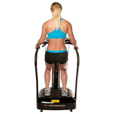 Confidence Fitness Slim Full Body Vibration Platform Fitness Machine, Black by Confidence (Image #4)