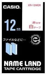 (業務用セット) カシオ(CASIO) ネームランド エコテープカートリッジ 白に赤文字 12mm 【×10セット】 ds-1642815