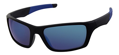 azul de libre correa marco Deportes plástico sol cuello espejo el Gafas para amarillo de Wrap lente Around cordón de wqFS7TX