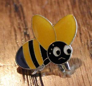Pin for Hats - New Sad Cute Bumble Bee Honey Maker Lapel Hat Pin Queen Buzz Tie Tack Black - Decoration for Clothes