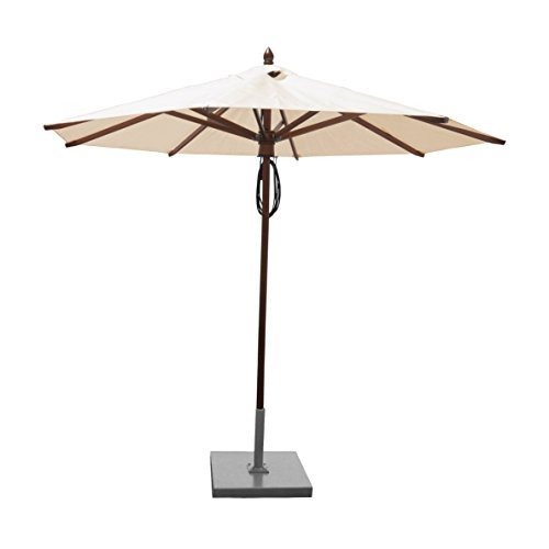 (Greencorner Mahogany Octagon Patio Umbrella 9 Foot, Natural)
