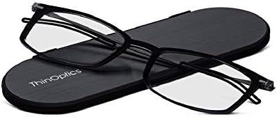 ThinOptics Frontpage Brooklyn Reading Glasses + Milano Aluminum Case