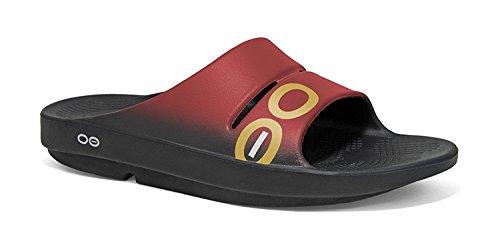 OOFOS Unisex OOahh Sport Slide Sandal Black/Cardinal cheap excellent sale footlocker pictures eastbay online dfYhrC