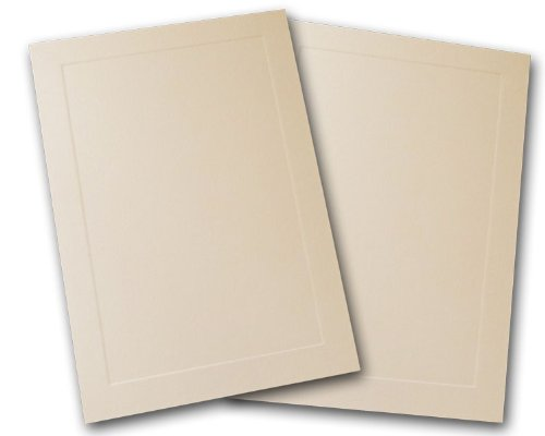 Blank Embossed Panel 4 Bar Response Cards - 250 Pack (Natural)